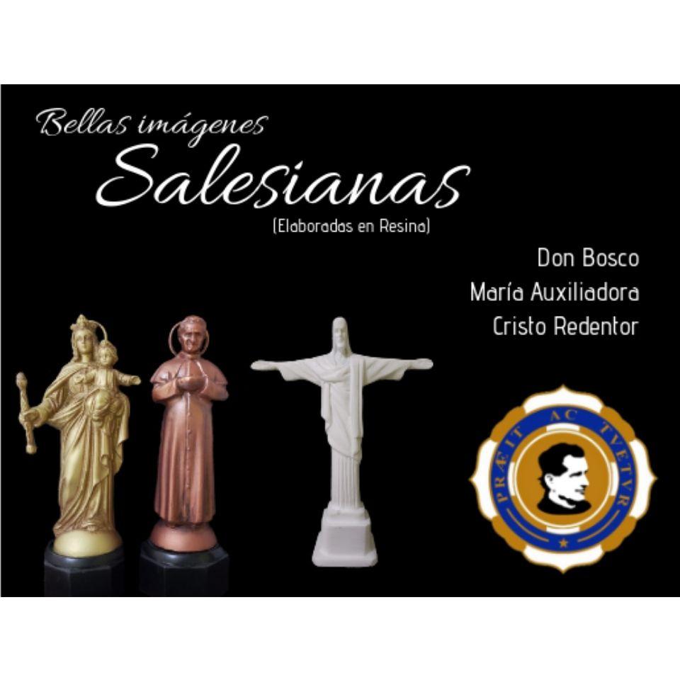 Bellas imágenes Salesianas elaboradas en resina, a la venta.
