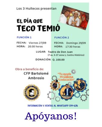 Obra de teatro en favor del Centro de Formación Profesional Bartolomé Ambrosio!!