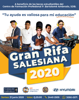 Lanzamiento Gran Rifa Salesiana 2020!!!